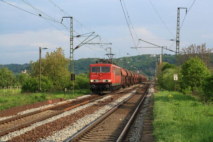 155 245 mit Getreidzug aus Freiberg in Radebeul Naundorf