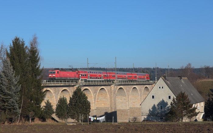 143 591 mit RB 30 nach Zwickau in Colmnitz