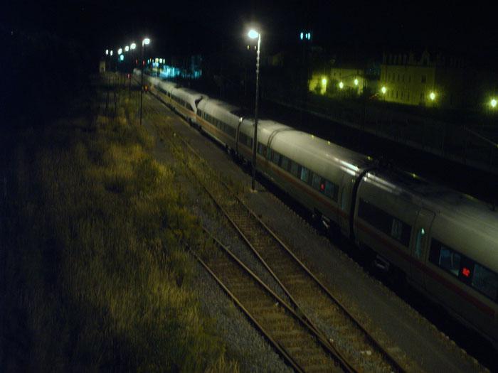 BR 411 oder auch ICE T  bei Abstellung in Freital Potschappel (waren auch einige Jahre zwischen Dresden und Zwickau im Einsatz)