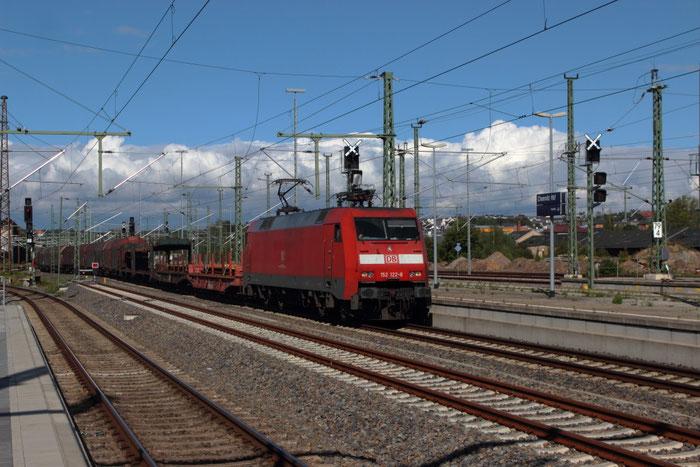 152 122 mit EZ 52523 in Chemnitz Hbf