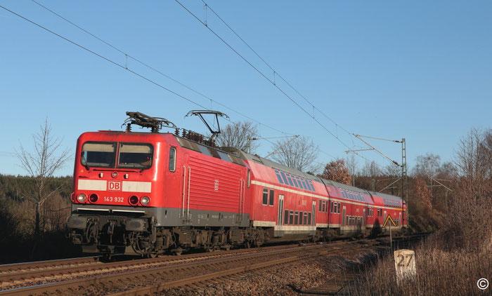 143 932 mit RB 30 nach Zwickau bei Colmnitz