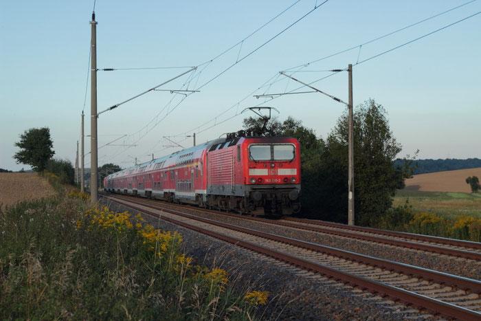 ... 143 210 mit Fußballsonderzug von Chemnitz nach Rostock bei Gadewitz