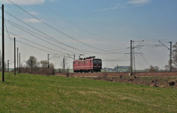180 011 Lz von Zwickau nach Dresden bei Colmnitz am 25.04.2013