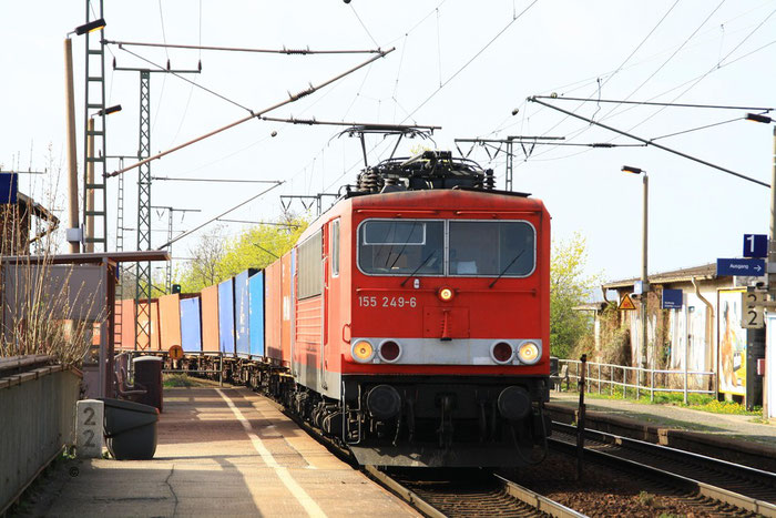 155 249 mit Containergz in Dresden Cotta