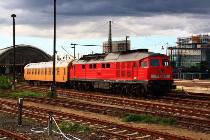 232 347 abgestellt im Dresdner Hauptbahnhof