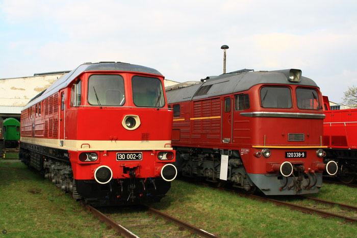 130 002 und 120 338 in Dresden