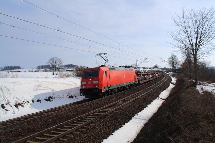 185 360 mit umgeleiteten GA 47431 am BÜ Colmnitz