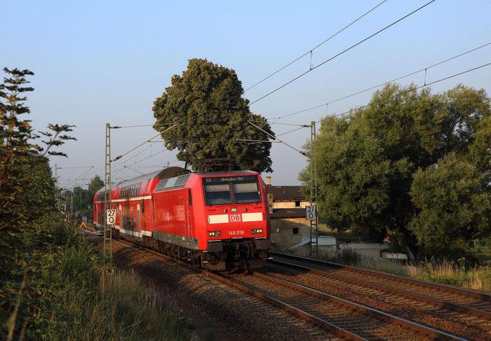 146 016 als S3 nach Dresden in Colmnitz