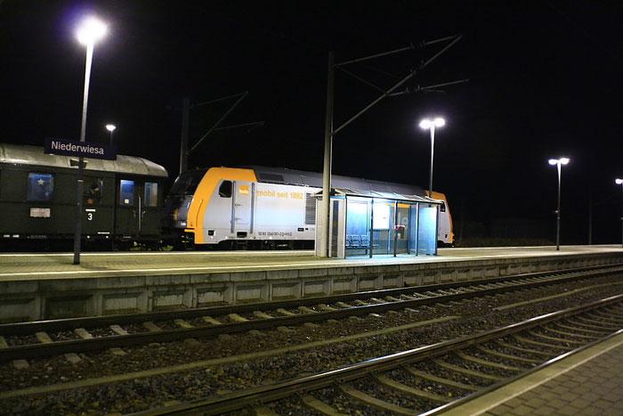 ...und 246 001 mit Sdz in Nierderwiesa