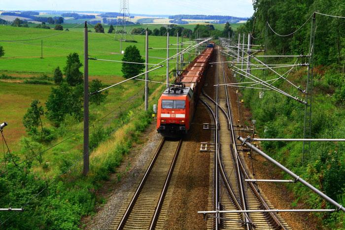 152 125 mit Gz an der Einfahrt von Klingenberg-Colmnitz