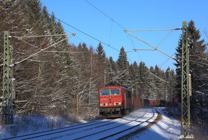 155 030 und 294 827 mit Sonderzug nach Freiberg