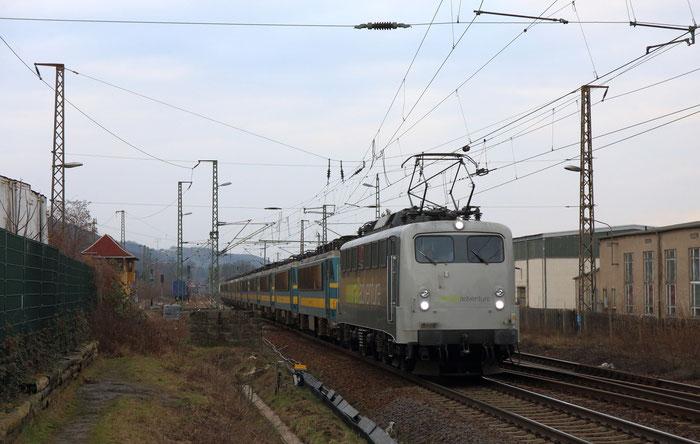 Rail Ad 139 557 mit einer Überführung von 11 belgischen Loks nach Tschechien