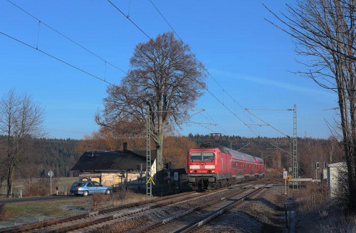143 591 mit RB 30 am BÜ Colmnitz