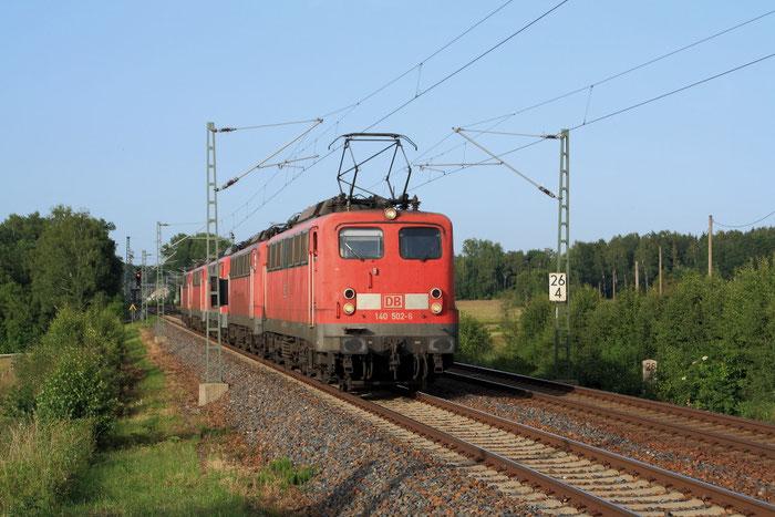 140 502 und vier Schwesterloks bei Colmnitz