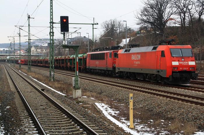 152 126 und 155 008 nach 4 Tagen Abstellzeit in Freital Potschappel