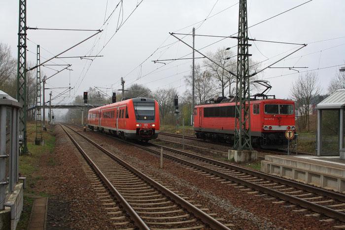 155 147 und 612 520 in DKC (Bild mit Erlaubnis des Erstellers eingestellt)