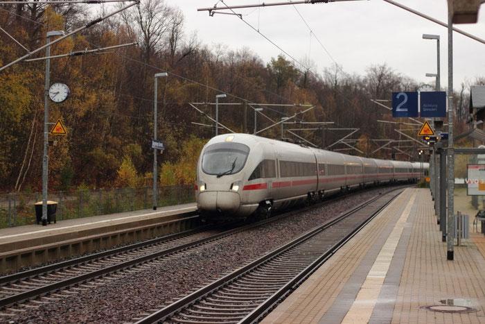 411 091 als ICE 1650 in Klingenberg Colmnitz
