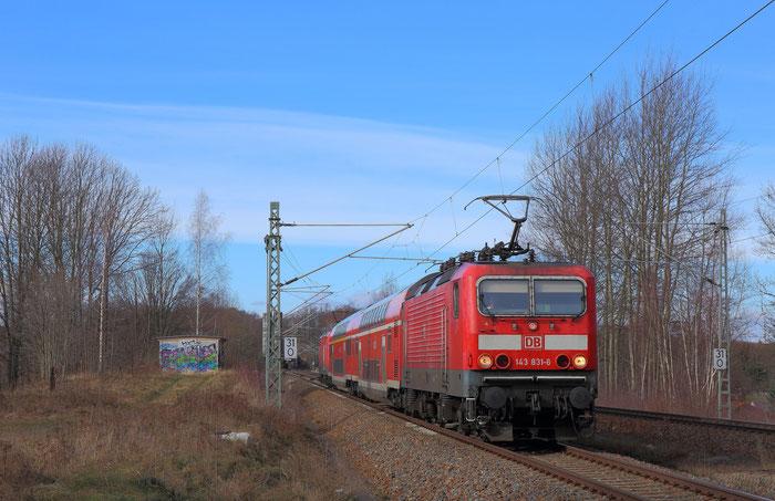 143 831 und 143 126 mit RB 30 in Niederbobritzsch