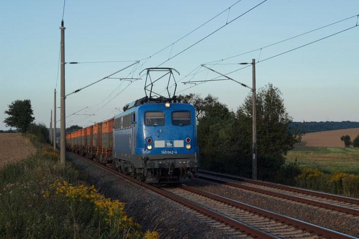 140 042 mit Kokszug bei Gadewitz