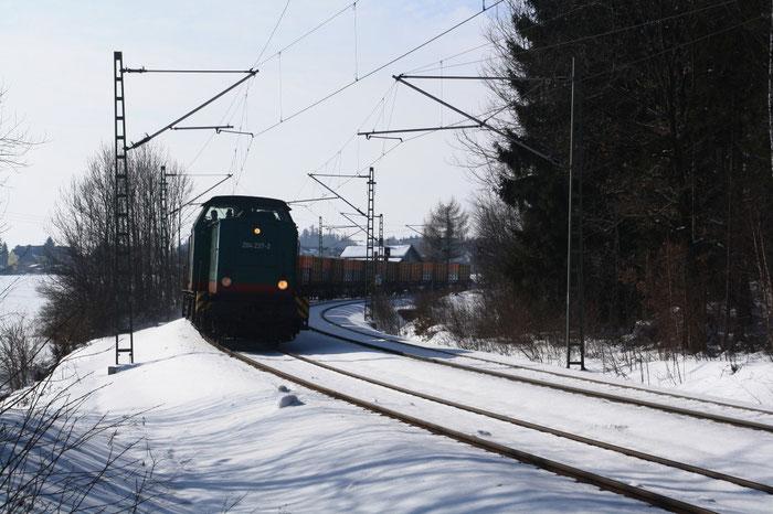 204 237 mit leerem Kokszug bei Klingenberg