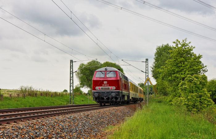 225 001 (als 215 001) mit Messzug bei Colmnitz