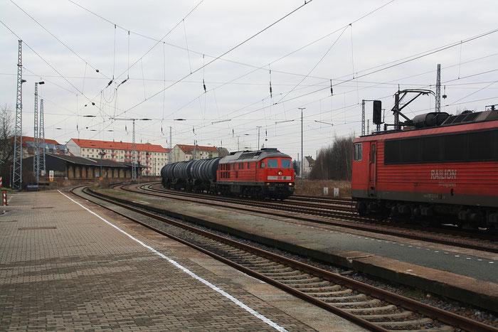 241 008 im Döbelner Hauptbahnhof