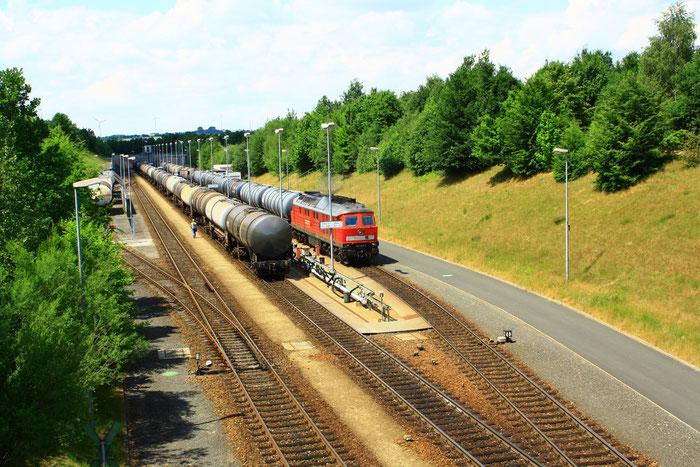 241 449 mit Gz in Rhäsa Werkbahnhof