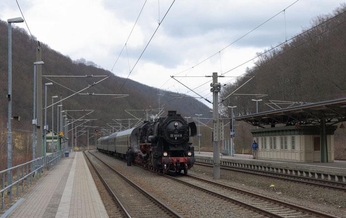 52 8154 nach der Ankunft aus Leipzig in Tharandt