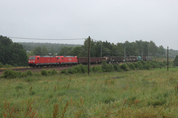 185 394 und eine weitere 185 mit einem umgeleiteten Gz bei Colmnitz