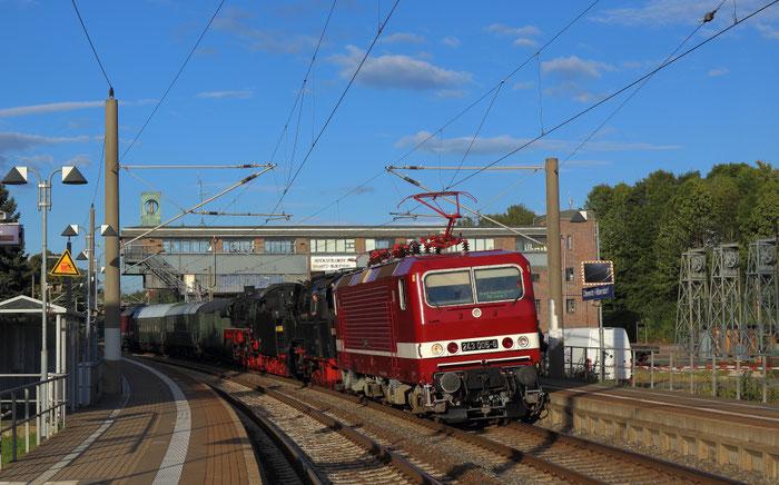 243 005 mit einem Lokzug vom SEM nach Halle/S in Chemnitz Hilbersdorf