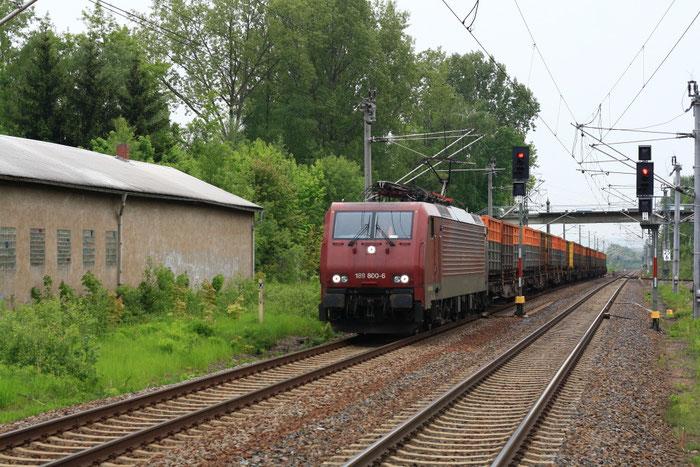 189 800 mit leerem Kokszug in Klingenberg-Colmnitz