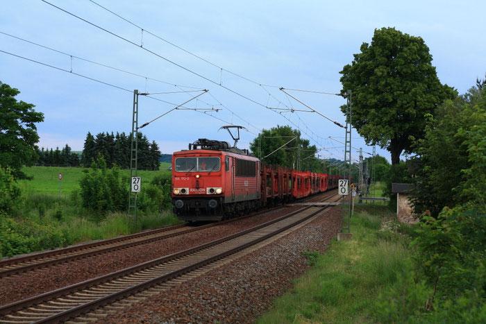 155 172 mit GA 47337 am BÜ Colmnitz