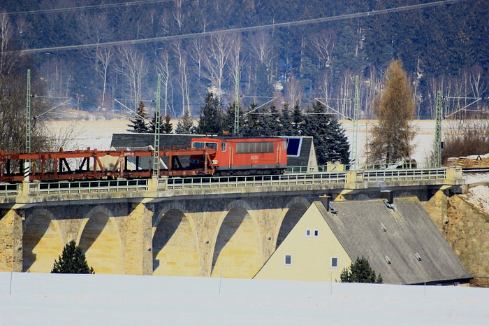 ...und auf dem Colmnitzer Viadukt