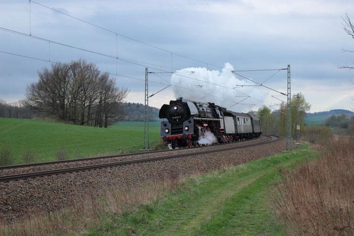 01 533 mit einem Sonderzug von Stuttgart nach Dresden