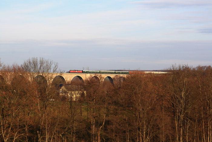 WFL Lok 20 auf dem Wegefarther Viadukt