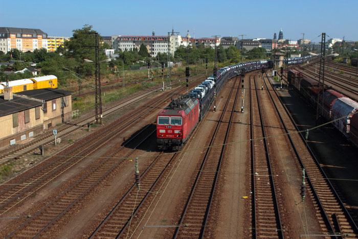 180 008 mit Gefco Autozug in Dresden Friedrichstadt