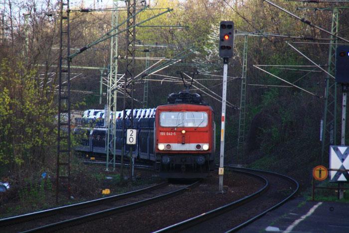 155 042 mit Autogz in Dresden Cotta