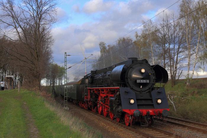 01 1519-6 mit Sonderzug in Hilbersdorf