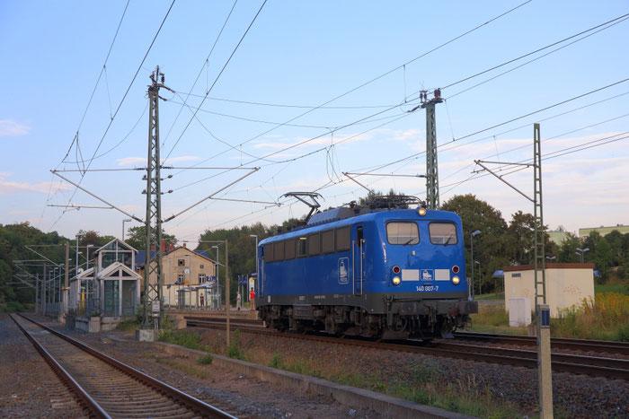 140 007 Lz im Bahnhof Klingenberg Colmnitz