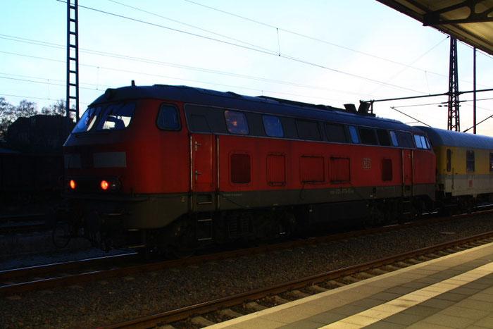 225 073 mit Messzug in Freiberg(Sachs)