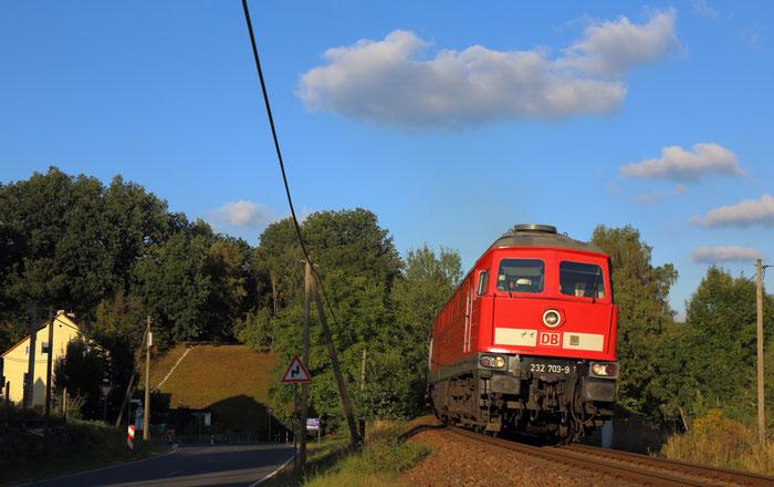 232 703 mit GC 60608 in Robschütz