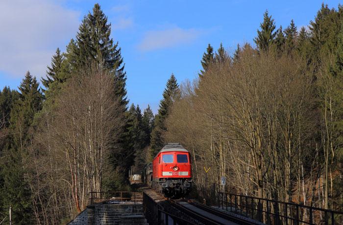 232 347 mit M 62668 nach Weißkeisel in Pobershau