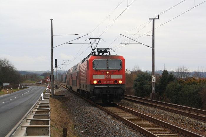 143 033 mit RB in Döbeln-Masten