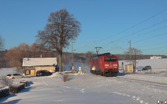 189 022 Lz auf dem Weg von Dresden nach Westsachsen bei Colmnitz