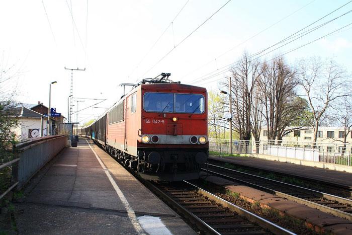 155 042 mit Gz in Dresden Cotta