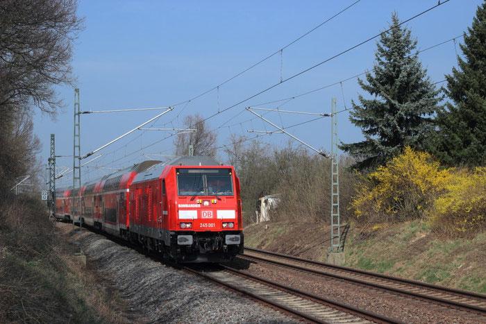 245 001 auf Probefahrt bei Niederborbitzsch