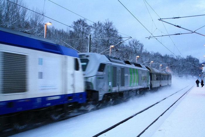 284 001 auf Testfahrt in Klingenberg