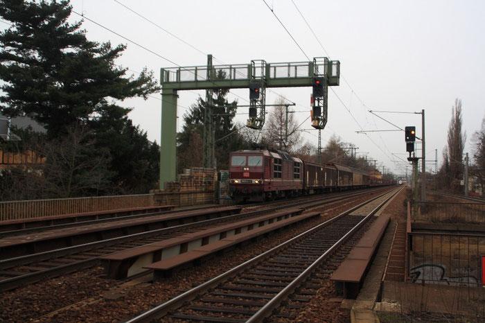 Eine der letzten Fahrten der 180 020 mit GA 47309 in Dresden Strehlen