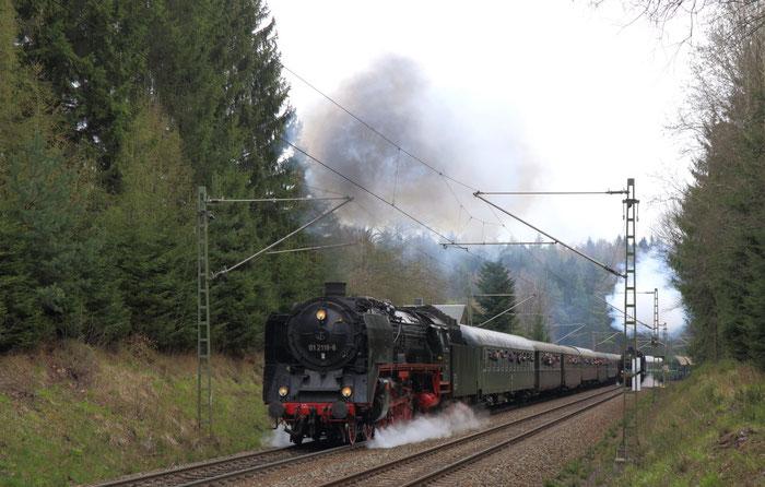 01 2118-6 auf dem Tharandter Berg hinter dem Seerenteich