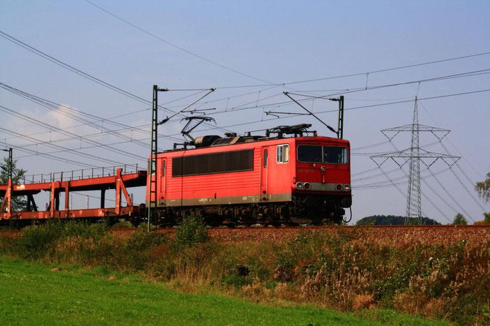 155 167 mit Gz vor dem Bahnhof Klingenberg-Colmnitz